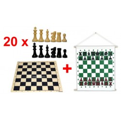 Offer Pack of 20 national games and magnetic mural
