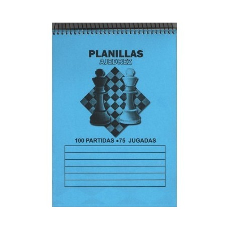 BLOC DE PLANILLAS AJEDREZ