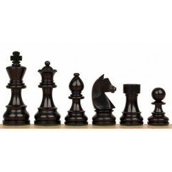 Staunton 6 German Ebonized Wood Chess Pieces
