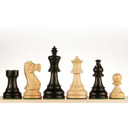 Staunton 6 American Ebonized Wood Chess Pieces