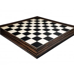 Ebony Chess Board 50mm Deluxe