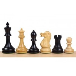 Staunton 6 Executive Ebonized Wood Chess Pieces