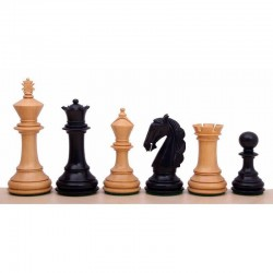 Staunton Wood Chess Pieces 6 Columbian Ebonized