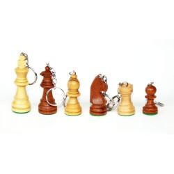 Llaveros de ajedrez de madera