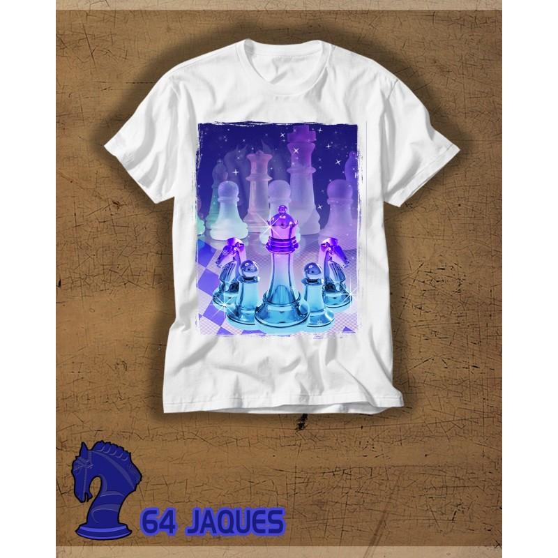Camiseta Ajedrez Cristal Morado