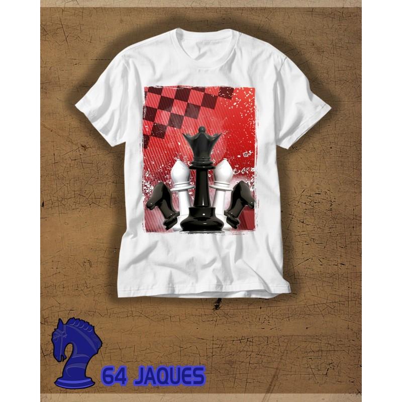 Camiseta Ajedrez Piezas Bicolor