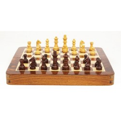 Luxury folding wooden chess set 30cm