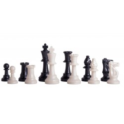 Plastic chess pieces Staunton 5/6 Club plumb